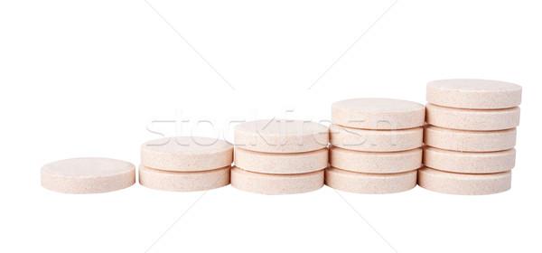 C vitamin izolált fehér orvosi háttér narancs Stock fotó © vankad