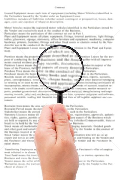 стороны увеличительное стекло чтение документа важный Сток-фото © vankad