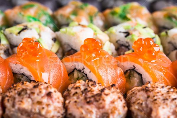 суши лосося икра рыбы Сток-фото © vankad
