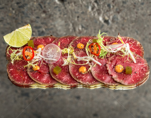 Beef new style sashimi Stock photo © vankad