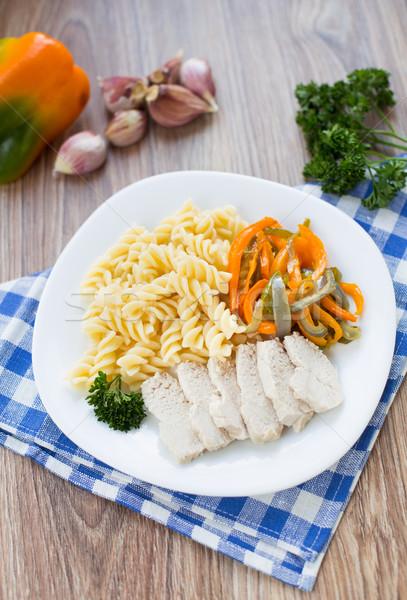 Pasta on plate Stock photo © vankad