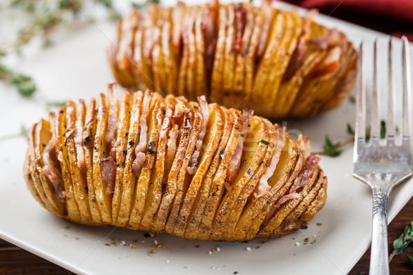 Hasselback potatoes Stock photo © vankad