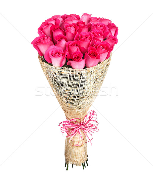 Flower bouquet of pink roses Stock photo © vankad