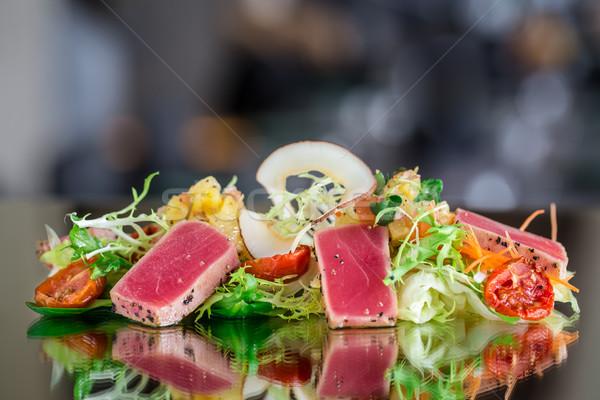 Tuna tataki salad Stock photo © vankad