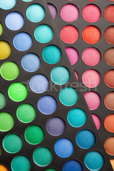 Сток-фото: красочный · глаза · Тени · палитра · шаблон · косметических