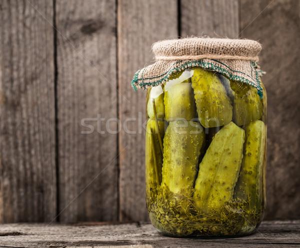 Jar of pickles Stock photo © vankad