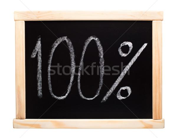 Cento cento scritto lavagna 100 bianco Foto d'archivio © vankad