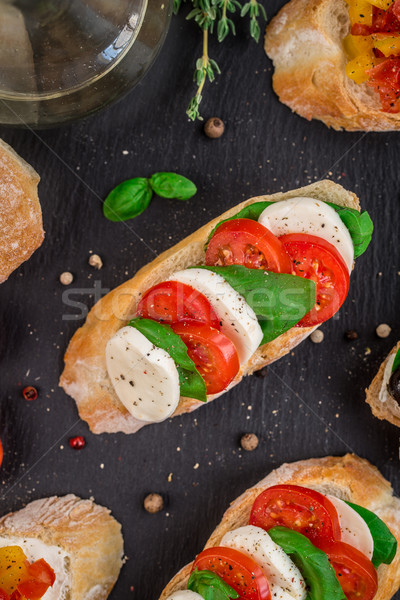 брускетта помидоров моцарелла базилик итальянский сыра Сток-фото © vankad