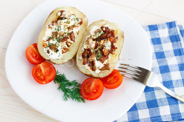 Baked potato Stock photo © vankad
