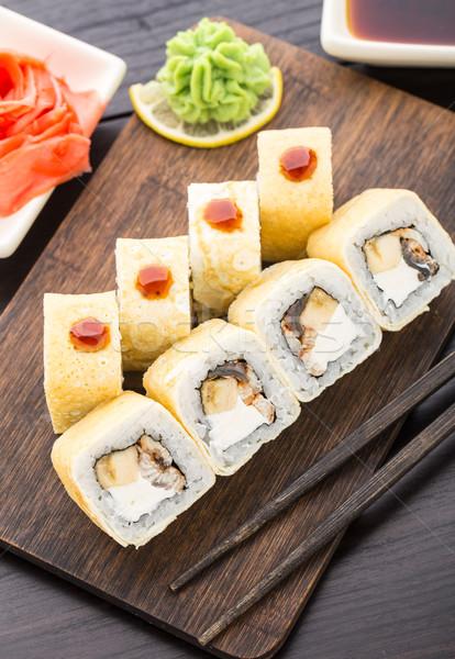 Sushi füme yılanbalığı muz Stok fotoğraf © vankad