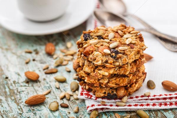 Eigengemaakt cookies zaden rozijn noten Stockfoto © vankad