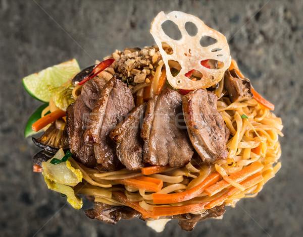 麺 カモ 乳がん 具体的な 食品 背景 ストックフォト © vankad