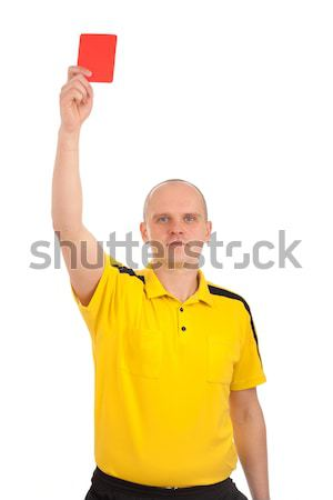 Football referee showing you the red card Stock photo © vankad