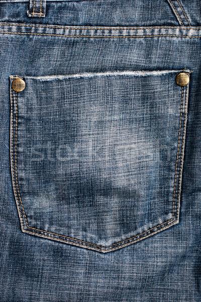 Foto d'archivio: Jeans · tasca · indietro · blu · pants · texture