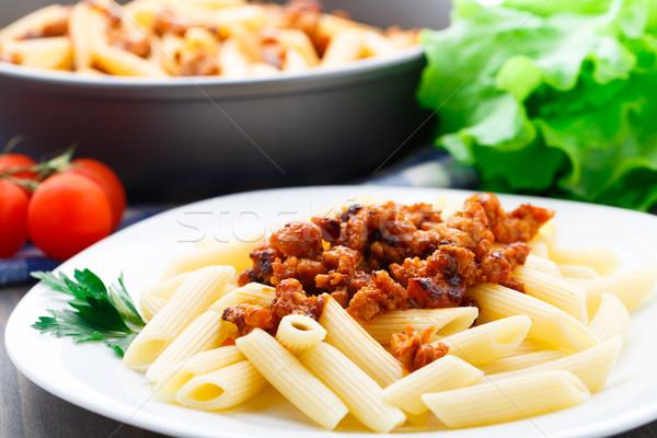 пасты соус болоньезе пластина еды блюдо Сток-фото © vankad