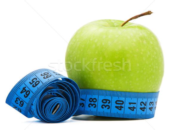 Vert pomme centimètre isolé blanche alimentaire Photo stock © vankad