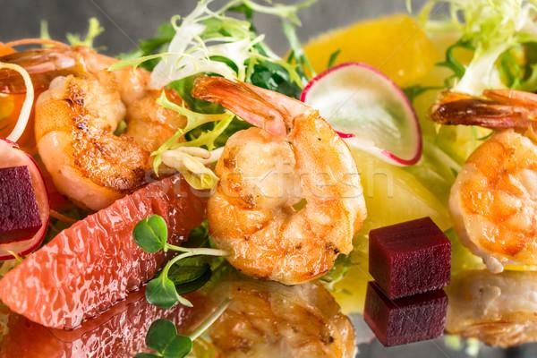 Citrus shrimp salad Stock photo © vankad