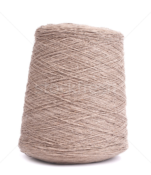 Spool of gray yarn Stock photo © vankad