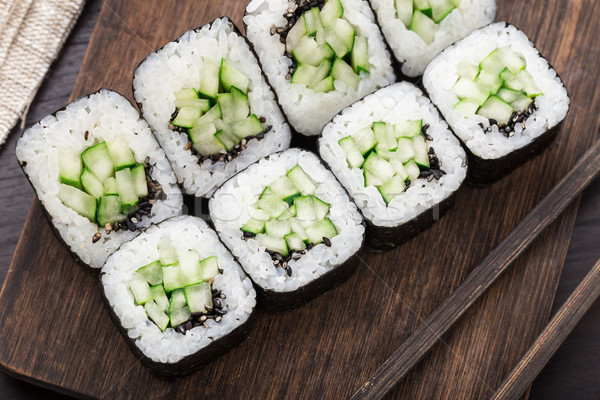 суши огурца продовольствие Сток-фото © vankad
