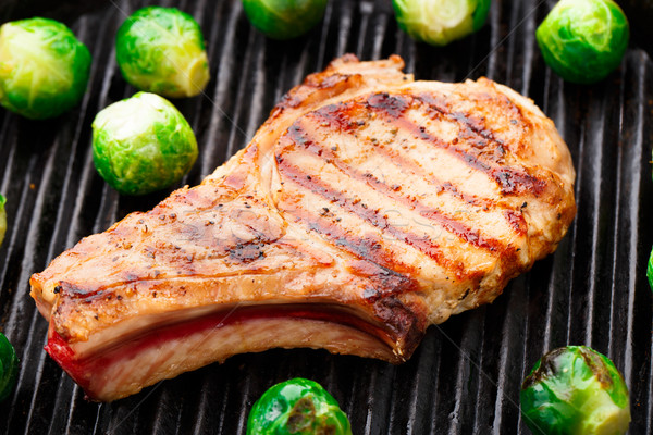 гриль свинина Брюссель мяса Сток-фото © vankad