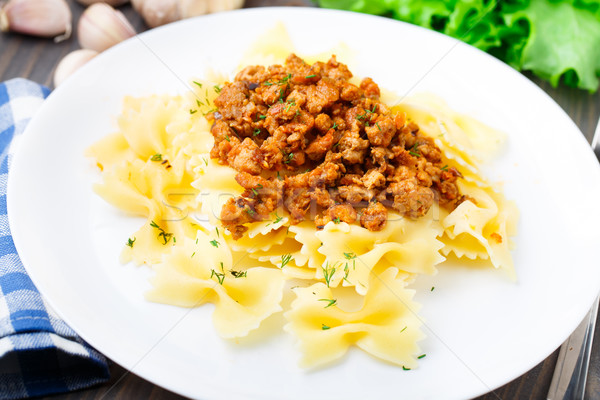 Pasta Bolognese on a plate Stock photo © vankad