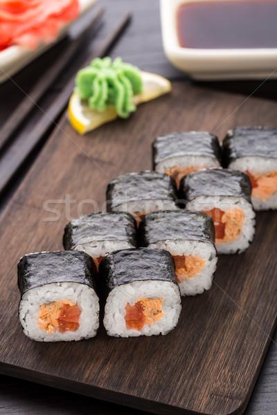 суши лосося терияки обеда Сток-фото © vankad