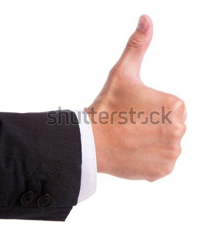 Businessman's hand with thumb up Stock photo © vankad
