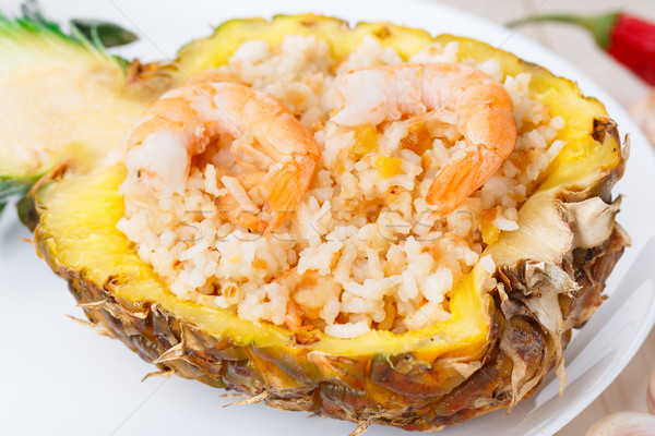 Pineapple fried rice Stock photo © vankad