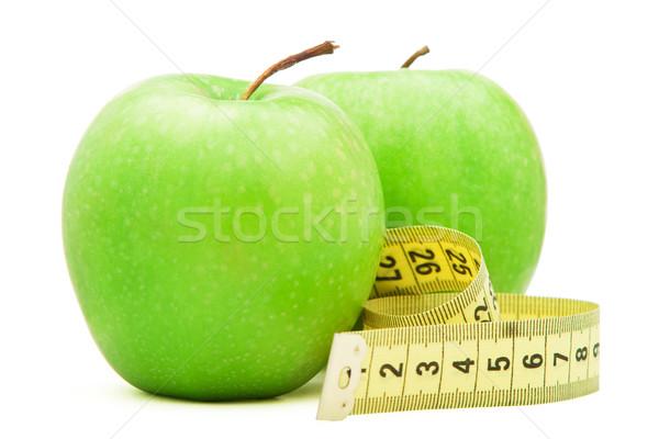 зеленый яблоко сантиметр изолированный белый продовольствие Сток-фото © vankad