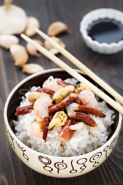 Seafood rice Stock photo © vankad