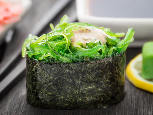 Close up of gunkan sushi Stock photo © vankad