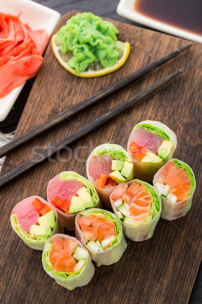 Primavera atum salmão asiático Foto stock © vankad