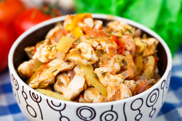 Vegetable ragout with chicken brests Stock photo © vankad