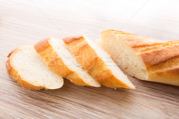 Slices of baguette Stock photo © vankad