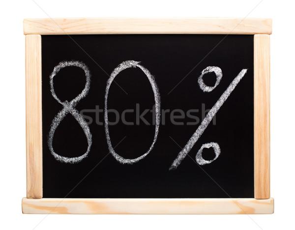 Eighty percent written on blackboard Stock photo © vankad