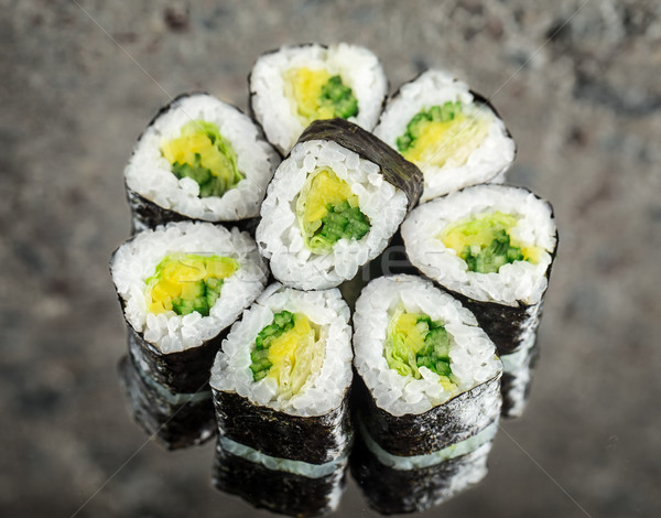 Mini roll with vegetables Stock photo © vankad