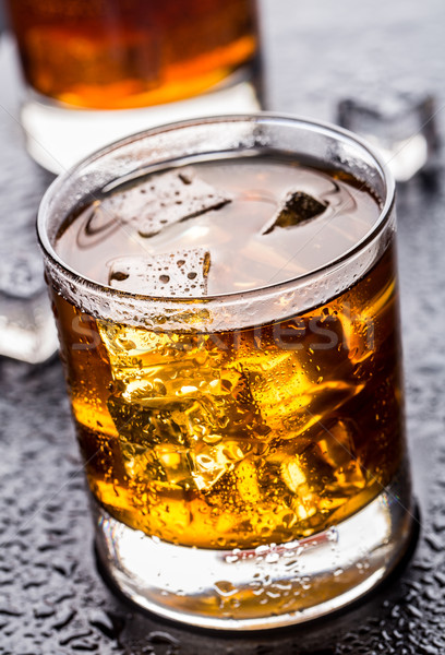 Glass with alcoholic drink Stock photo © vankad
