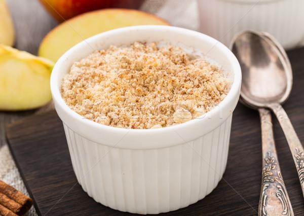 Apple crumble dessert Stock photo © vankad