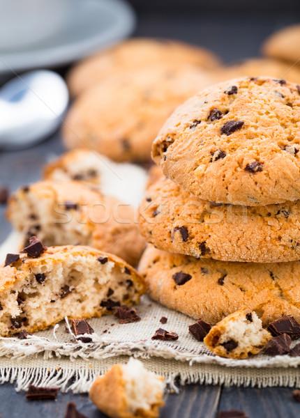 Chocolate chip cookies Stock photo © vankad