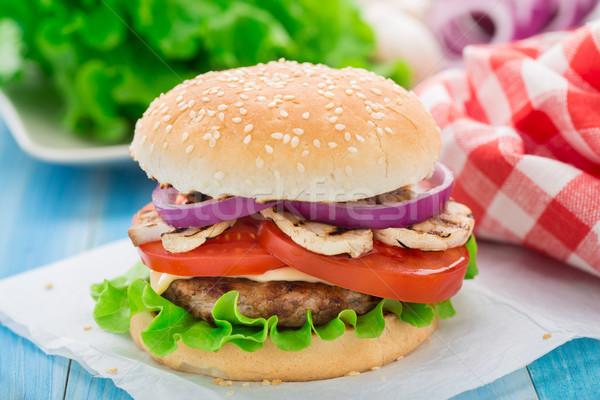 Home made burger Stock photo © vankad