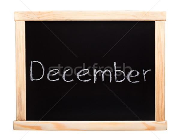 месяц декабрь написанный мелом доске школы Сток-фото © vankad