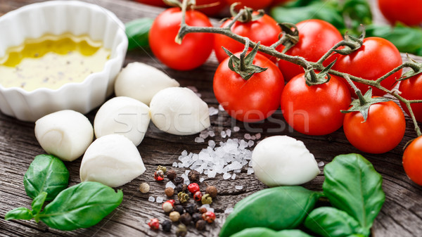 Caprese salad ingredients Stock photo © vankad