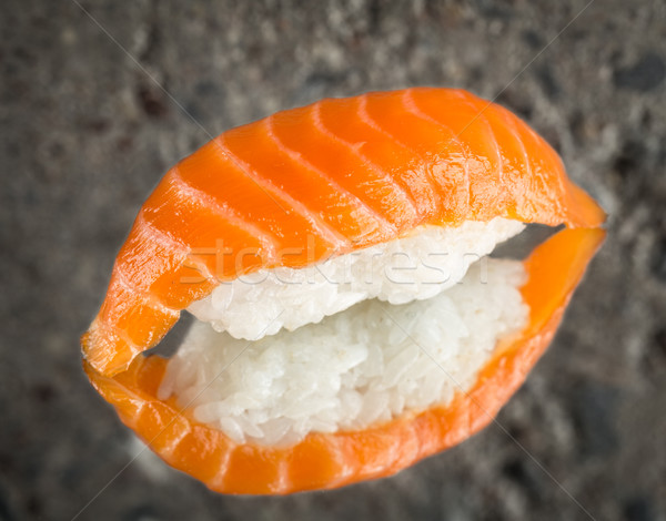 Sushi marynowane łososia konkretnych tekstury ryb Zdjęcia stock © vankad