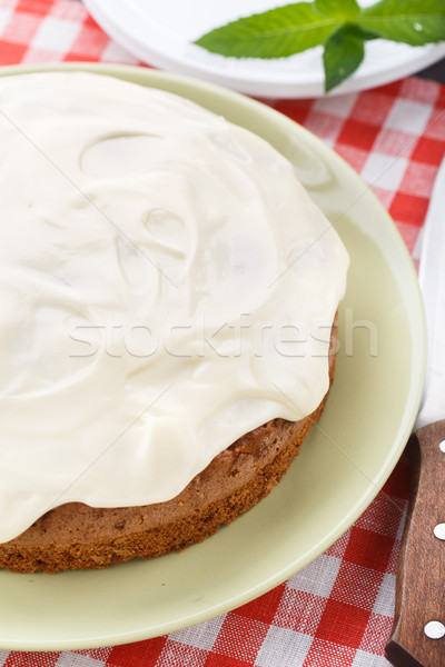 Carrot cake with nuts and cinnamon Stock photo © vankad