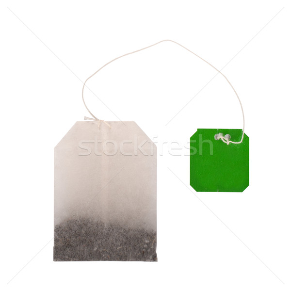 Tea bag on white background Stock photo © vankad