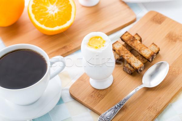 朝食 ソフト 卵 トースト 兵士 ストックフォト © vankad