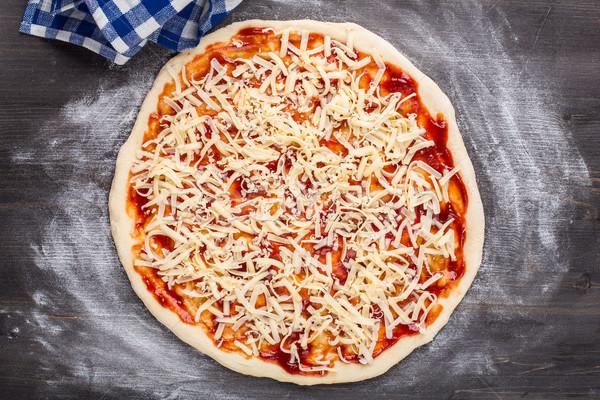 Making of pizza Stock photo © vankad