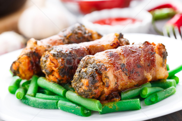 Bacon wrapped cutlet Stock photo © vankad
