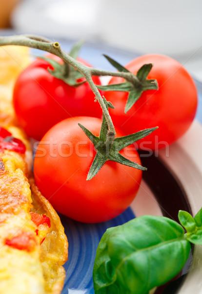 チェリートマト 新鮮な ブランチ プレート 赤 朝食 ストックフォト © vankad