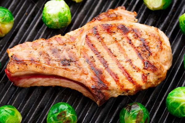 Gegrild varkensvlees kotelet Brussel heerlijk vlees Stockfoto © vankad